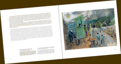 Sample double-page spread from book